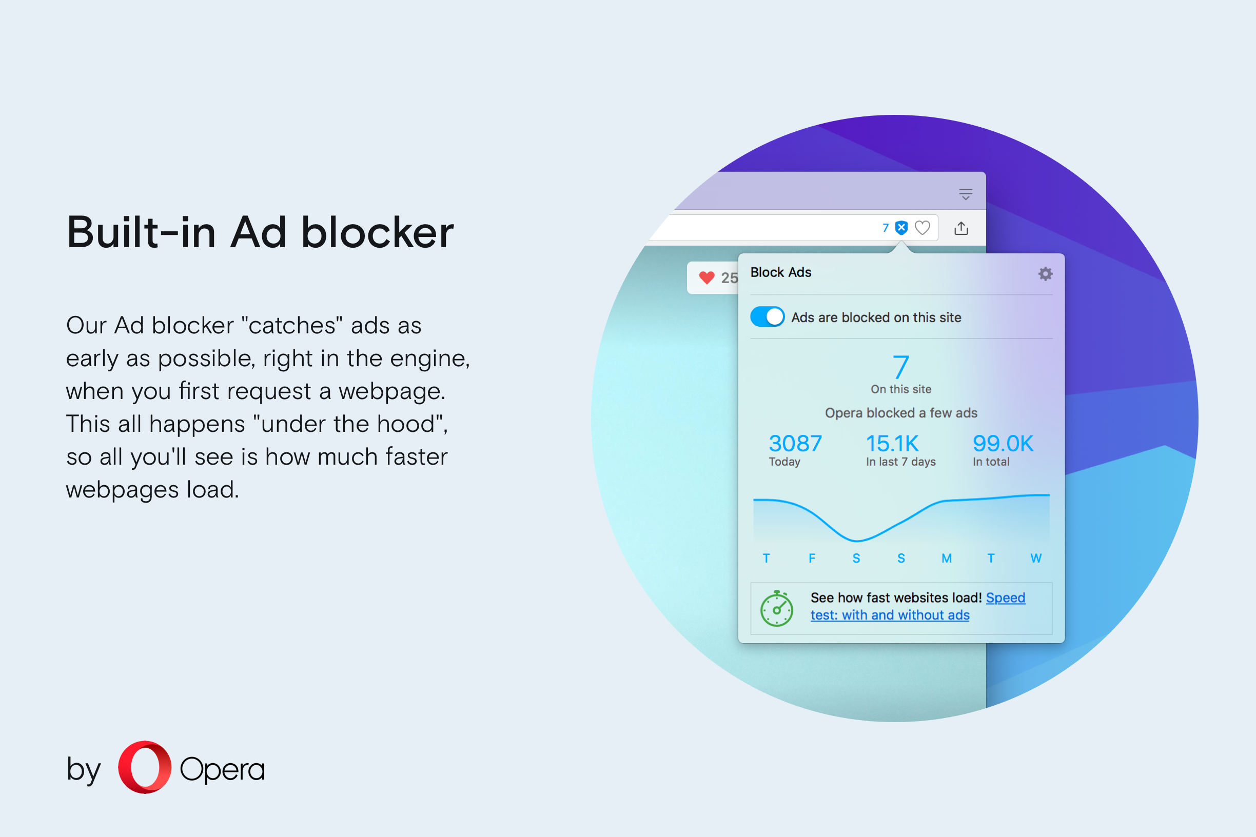 Thumbnail untuk screenshot Opera Ad blocker