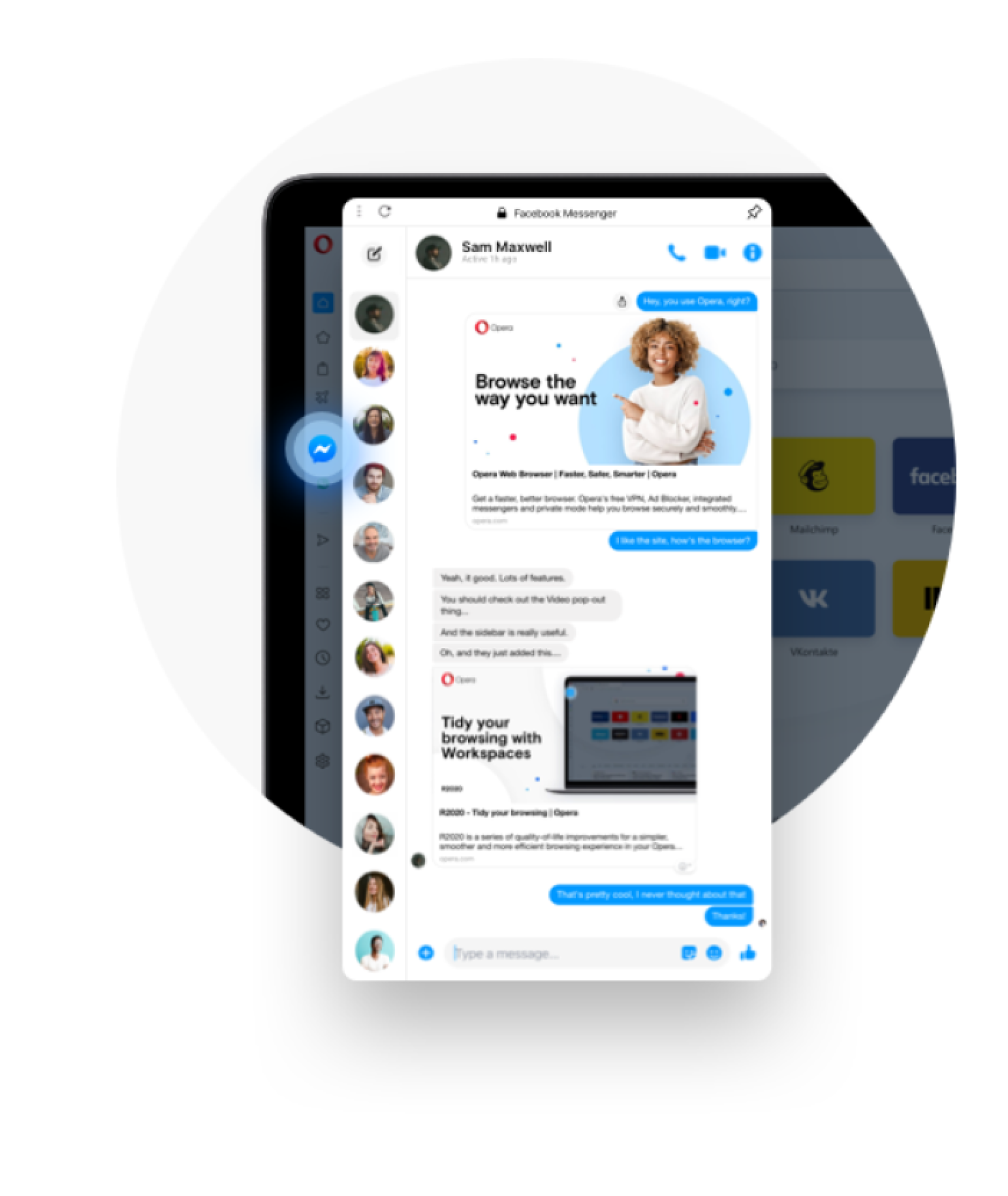 Miniatura de la captura de Facebook Messenger